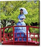 Belle On Red Bridge Acrylic Print