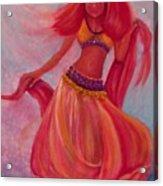 Belly Dancer Acrylic Print