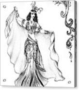 Belly Dancer With Veil. Friend Of Ameynra Acrylic Print
