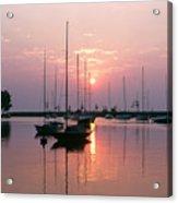 Belmont Harbor Sunrise 1973 Acrylic Print