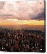 Belo Horizonte - The Cityscape From Above Acrylic Print