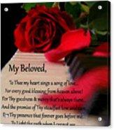 Beloved Acrylic Print