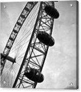Below London's Eye Bw Acrylic Print by Kamil Swiatek