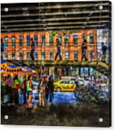 Below The High Line Acrylic Print