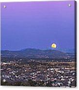 Belt Of Venus And Full Moon Rising Acrylic Print