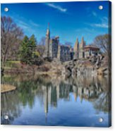 Belvedere Castle And Turtle Pond Acrylic Print