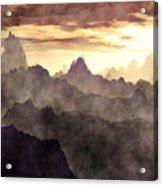 Belzoni Mountain Range Acrylic Print