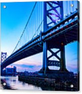 Ben Franklin Bridge Acrylic Print