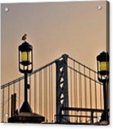 Ben Franklin Bridge In Early Morning Acrylic Print