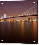 Ben Franklin Bridge Acrylic Print by Richard Williams Photography