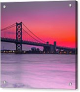 Ben Franklin Bridge - Sunrise Acrylic Print