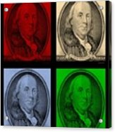 Ben Franklin In Colors Acrylic Print