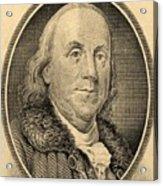 Ben Franklin In Sepia Acrylic Print