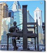 Ben Franklin Printing Press - Philadelphia Acrylic Print