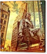 Ben In New York City Acrylic Print