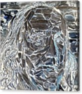 Ben In Wood Negative Art Acrylic Print