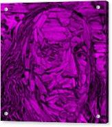 Ben In Wood Purple Acrylic Print