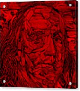 Ben In Wood Red Acrylic Print