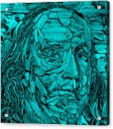 Ben In Wood Turquoise Acrylic Print