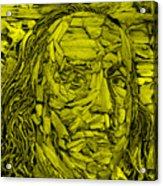 Ben In Wood Yellow Acrylic Print
