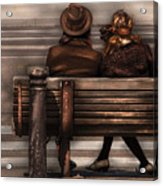 Bench - A Couple Out Of Time Acrylic Print