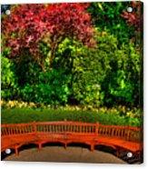 Bench At Bouchart Acrylic Print