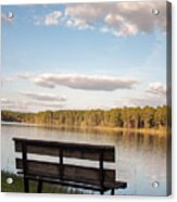 Bench By The Lake Acrylic Print