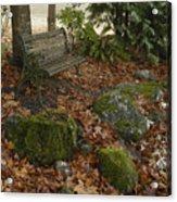 Bench In Fall Acrylic Print