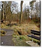 Bench In Polkemmet Park. Acrylic Print