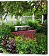 Bench In Prescott Park Acrylic Print