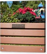 Bench In Steelhead Park Acrylic Print