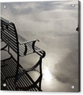 Bench In The Clouds Acrylic Print