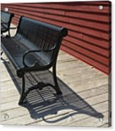 Bench Lines And Shadows 0841 Acrylic Print