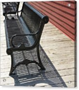 Bench Lines And Shadows 0862 Acrylic Print