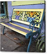 Bench Of Color Acrylic Print