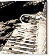 Bench Panorama In Sepia Acrylic Print