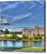 Bench View Of Leeds Castle Acrylic Print