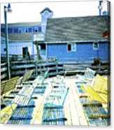 Benches On Boothbay Acrylic Print