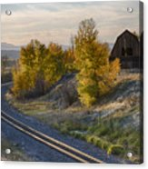 Bend In The Tracks Acrylic Print
