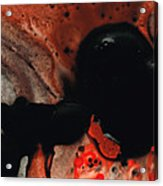 Beneath The Fire - Red And Black Painting Art Acrylic Print