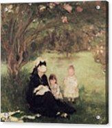 Beneath The Lilac At Maurecourt Acrylic Print