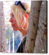 Benevolent Blond Acrylic Print