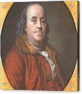 Benjamin Franklin Acrylic Print by Jean Valade