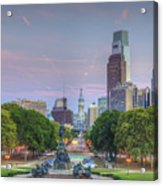 Benjamin Franklin Parkway City Hall Acrylic Print