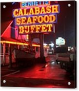 Bennetts Calabash Seafood Buffet Myrtle Beach Acrylic Print by Corky Willis Atlanta Photography