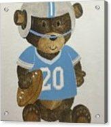 Benny Bear Football Acrylic Print