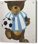 Benny Bear Soccer Acrylic Print