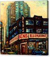 Bens Restaurant Deli Acrylic Print