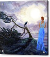 Bent Cypress And Blue Lady Acrylic Print