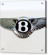 Bentley Emblem -0081c Acrylic Print